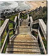 Long Stairway To Beach Canvas Print