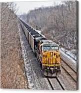 Long Train Home Canvas Print