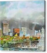 Longfellow Bridge Boston Canvas Print