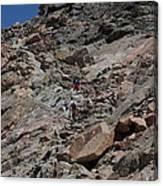 Longs Peak Ledges Canvas Print