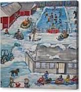 Longshot Farm - Dozois Rink Canvas Print