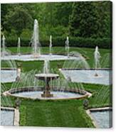 Longwood Fountains 3 Canvas Print