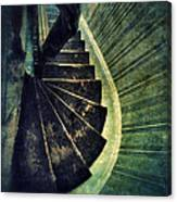 Looking Down An Old Staircase Canvas Print