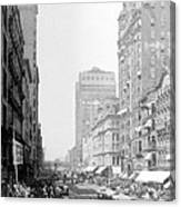 Looking Down State Street - Chicago - C  1897 Canvas Print