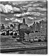 Looking Downtown From The Erie Basin Marina Canvas Print