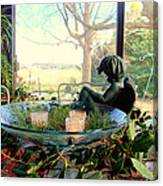 Looking Out The Window Canvas Print