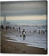 Looking South To Moss Landing Canvas Print
