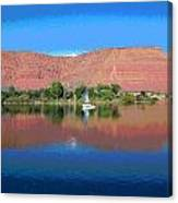 Reflections Of Ivins, Ut Canvas Print