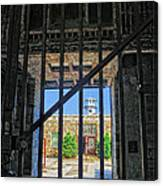 Looking Through The Bars Canvas Print