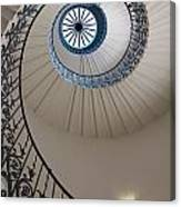 Looking Up At A Spiral Staircase Canvas Print