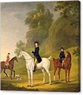 Lord Bulkeley And His Harriers Canvas Print