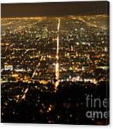 Los Angeles At Night 2 Canvas Print