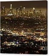 Los Angeles  City View At Night  Canvas Print