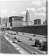Los Angeles In The 1950s Canvas Print