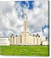 Los Angeles Temple Front Canvas Print