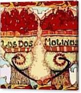 Los Dos Chilies Canvas Print