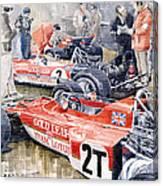 Lotus 49 B Lotus 72  Canvas Print