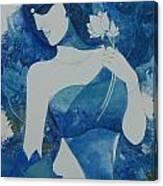 Lotus Blues Canvas Print