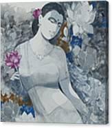 Lotus Grays Canvas Print