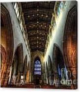 Loughborough Church Ceiling And Nave Canvas Print