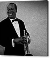Louis Armstrong Bw Canvas Print