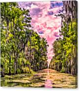 Louisiana Bayou Sunrise Canvas Print