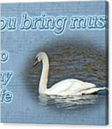 Love - I Love You Greeting Card - Mute Swan Canvas Print