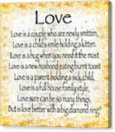 Love Poem In Yellow Canvas Print