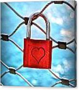 Love Lock And Memories Canvas Print