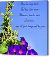 Love More Canvas Print