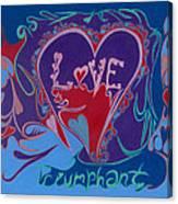 Love Triumphant 2nd Of 3  Canvas Print