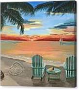 Love You Beach Canvas Print