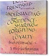 Lovefriendship Canvas Print