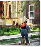 Lovely Spring Day For A Ride Canvas Print