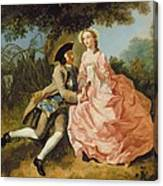 Lovers In A Landscape Canvas Print
