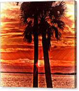 Loving Palms-the Journey Canvas Print