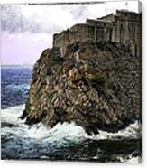 Lovrijenac Tower In Dubrovnik Canvas Print