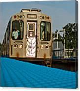 Low Angle Train Canvas Print