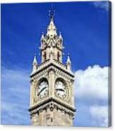 Low Angle View Of A Clock Tower, Albert Canvas Print
