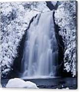 Low Angle View Of A Waterfall, Glenoe Canvas Print
