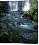 Low Angle View Of A Waterfall Canvas Print