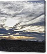 Low Hanging Clouds At Sunset Canvas Print
