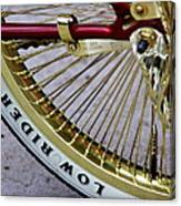 Low Rider In Maroon And Gold Canvas Print