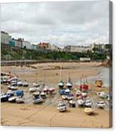 Low Tide At Tenby Canvas Print