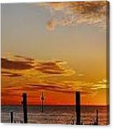 Low Tide At The Lake Canvas Print