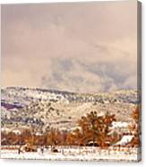 Low Winter Storm Clouds Colorado Rocky Mountain Foothills 6 Canvas Print