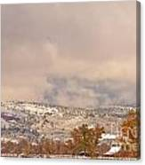 Low Winter Storm Clouds Colorado Rocky Mountain Foothills 7 Canvas Print