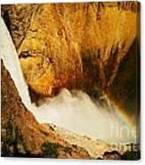 Lower Falls Yellowstone River Canvas Print