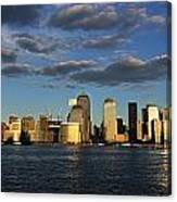 Lower Manhattan At Sunset, Viewed From Canvas Print