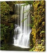 Lower South Falls At Silver Falls Canvas Print
